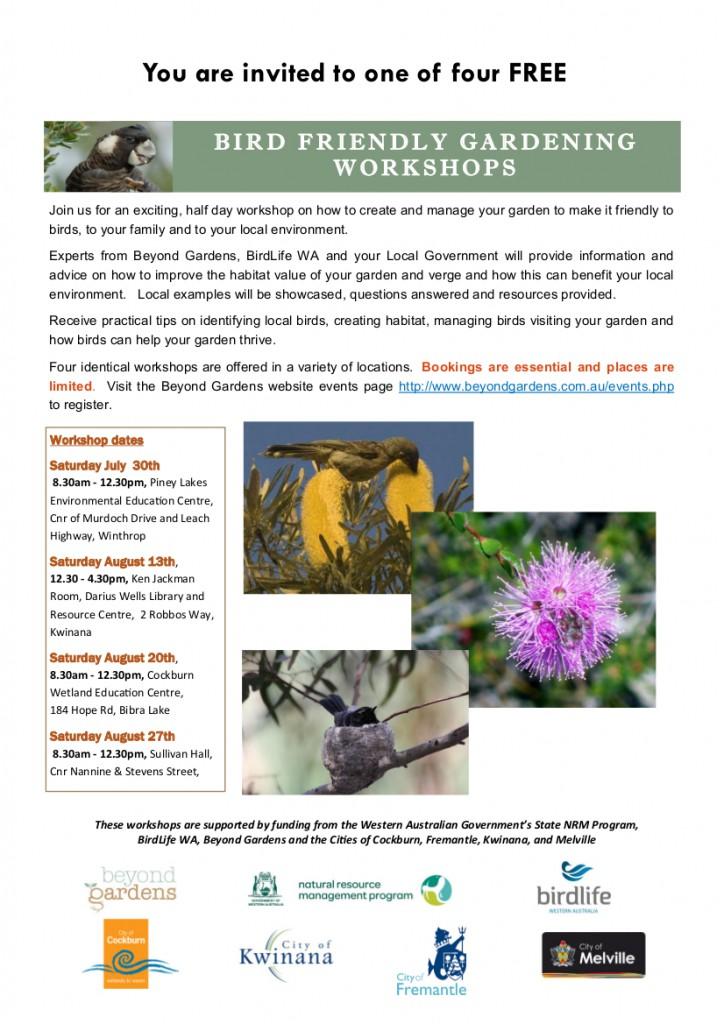 Bird Friendly Gardening Workshop flyer (Final)